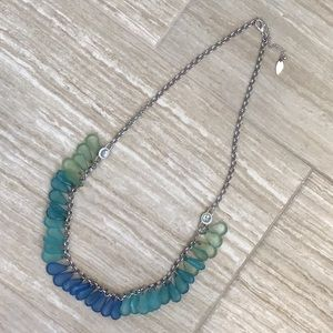 """Sea glass"" Look Necklace"